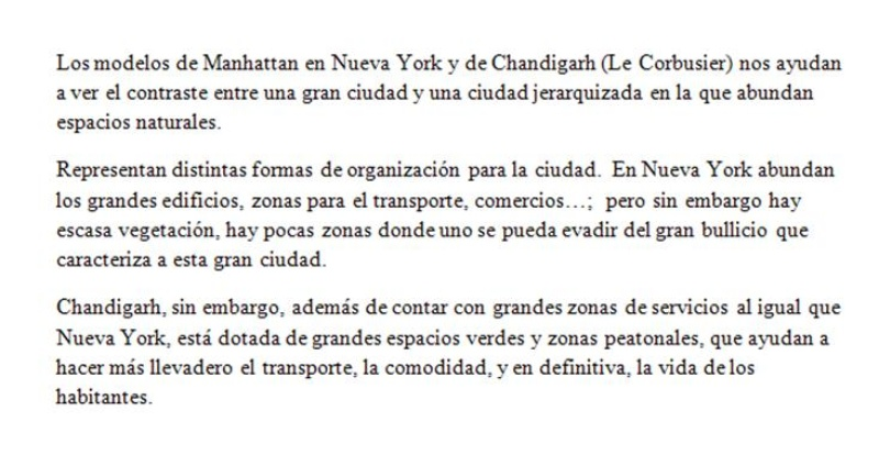 Comparación NY y Chandigarh