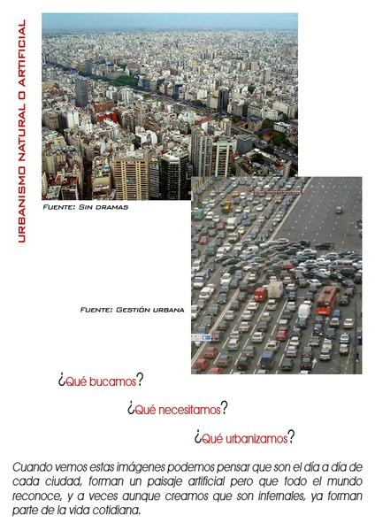 URBANISMO NATURAL O ARTIFICIAL