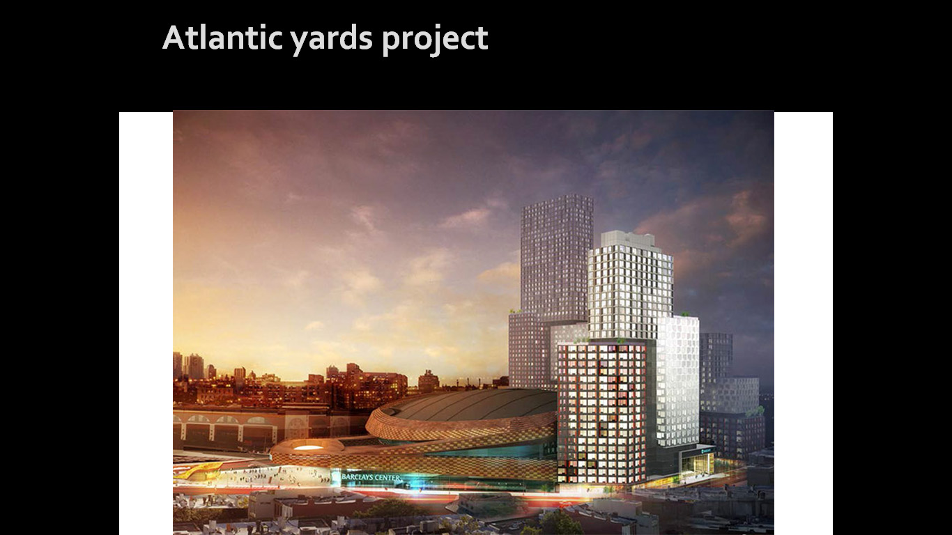 atlantic yards project Atlantic yards community 1000 affordable home ownership units to be built on or off the project site 35% of jobs for construction 415 atlantic avenue.