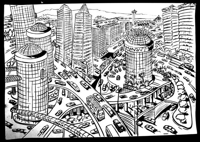 Ciudad dibujos - Imagui